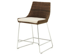 Woven Shelter Bar Counter Stool eclectic-bar-stools-and-counter-stools