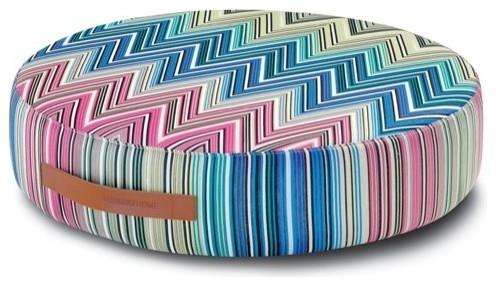 Missoni Home   Kew Indigo Round Floor Cushion modern-decorative-pillows