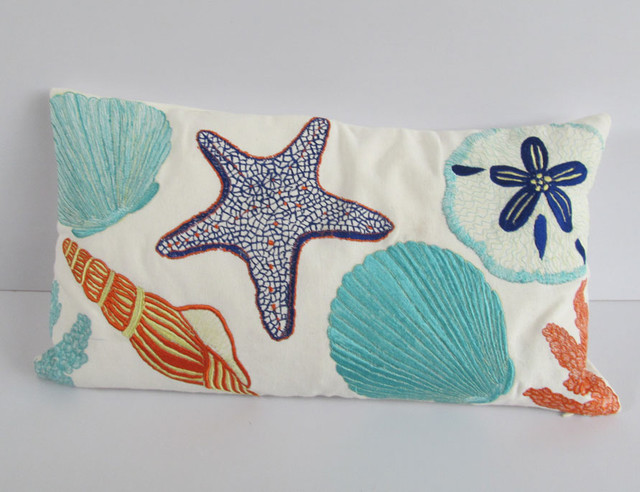 Nautical Coastal Throw Pillows : Coastal beach nautical pillows - Tropical - Home Decor - other metro - by Comfy Heaven Pillows ...