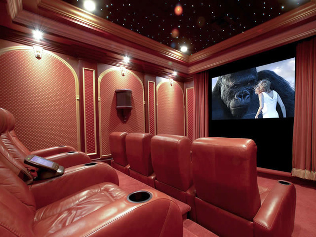Florida home theater interior designs palm beach for Florida home interior designs