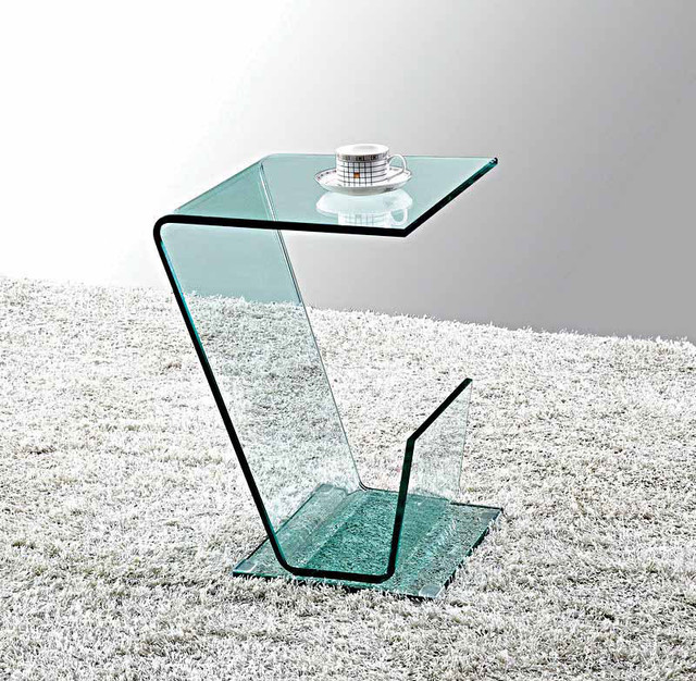 MODERN CLEAR GLASS SIDE TABLE TARANTO modern-side-tables-and-end-tables