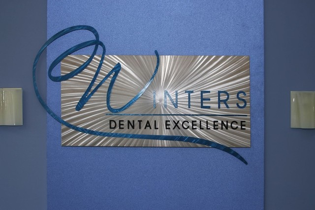 Custom Logo Signs Winters Dental Metal Sign Modern