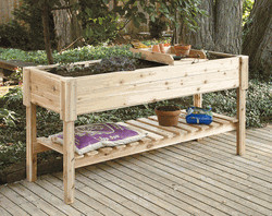 Large Garden Center Cedar Planter Box traditional-outdoor-planters
