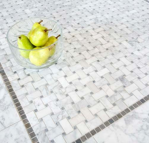 Basketweave Mosaic Tiles Traditional Mosaic Tile By Mission Stone Tile