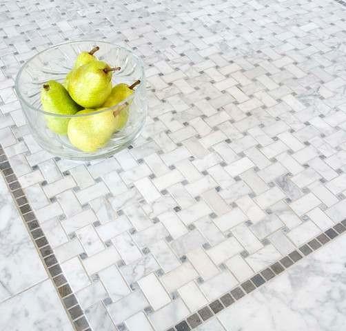 Basketweave Mosaic Tiles traditional-tile