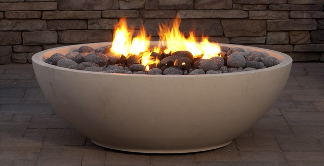 Mezzaluna fire bowl fire pits san diego by eldorado for Eldorado stone fire bowl