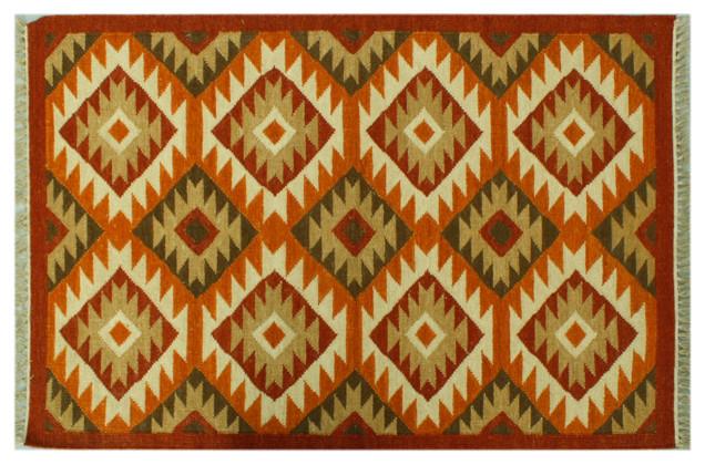 Anatolian Kilim Flat Weave 3'x5' Hand Woven Geometric Oriental Rug Sh6292 rugs