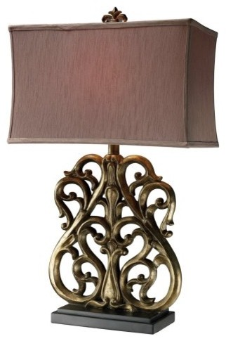 Dimond D1842 Roseville Table Lamp traditional-table-lamps