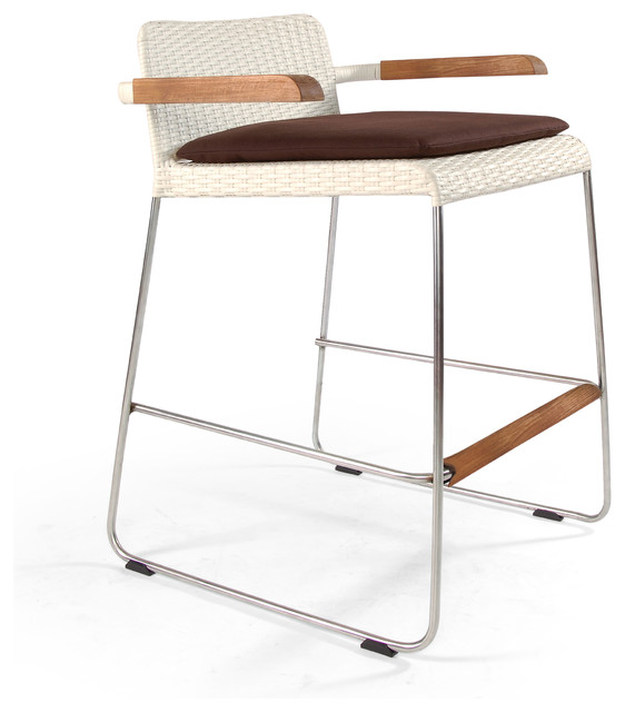 Sun Set Outdoor Bar Stool / Counter stool with Arms contemporary-patio-furniture-and-outdoor-furniture