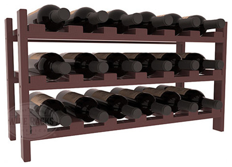 18 Bottle Stackable Wine Rack in Pine with Cherry Stain + Satin Finish traditional-wine-racks