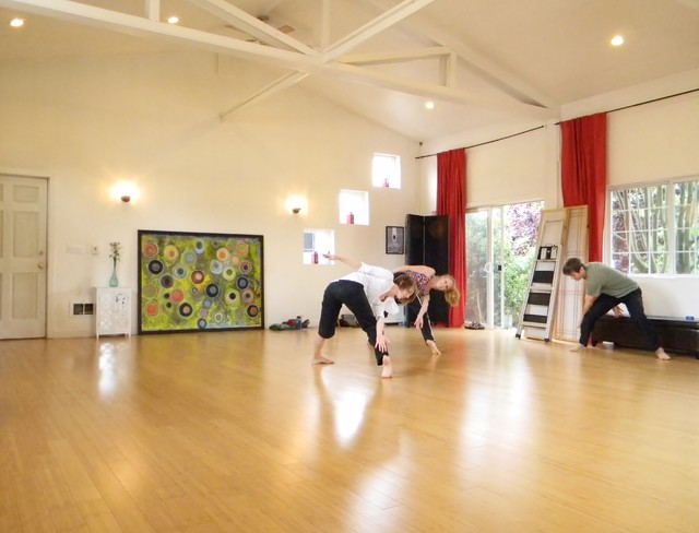 A Place to Create eclectic-home-gym