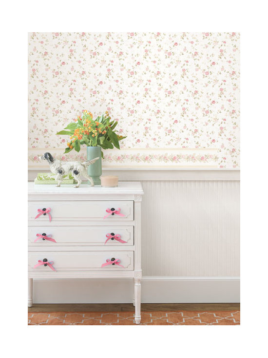 Vintage Wallpaper - Pretty vintage floral & vintage wallpaper border available from Brewster Home Fashions