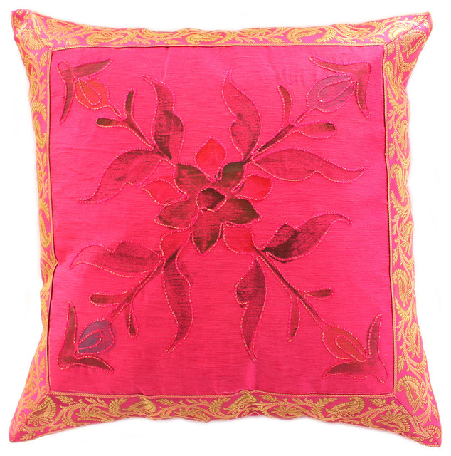 Decorative Pillow Covers - Tropical - Decorative Pillows - boston - by Banarsi Designs