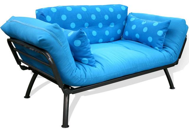 Mali Flex Futon Combo- Aqua Polka Dot contemporary-beds