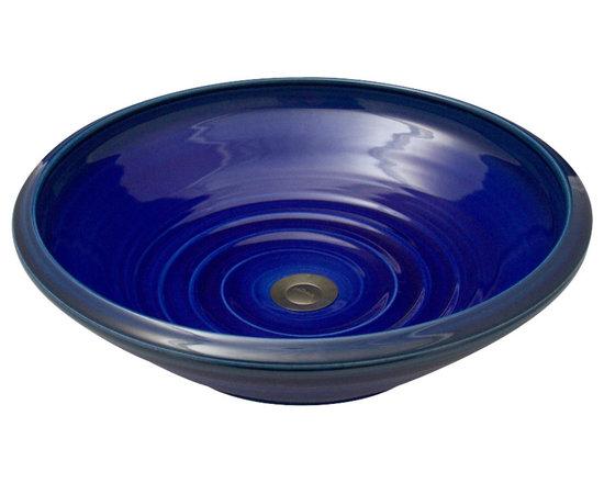 Indikoi Sinks LLC - SOHO: Vessel Mount Sink, Indigo - The Soho style is a low sleek vessel mount sink.