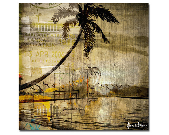 Ready2HangArt - Ready2HangArt Alexis Bueno 'Seaside Escape' Oversized Canvas Wall Art - This tropical abstract canvas art is the perfect addition to any contemporary space. It is fully finished, arriving ready to hang on the wall of your choice.