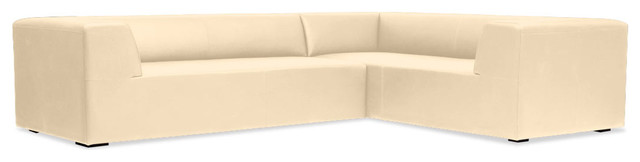 Seed I Beige Leather Modular Sofa Set Left contemporary-sofas