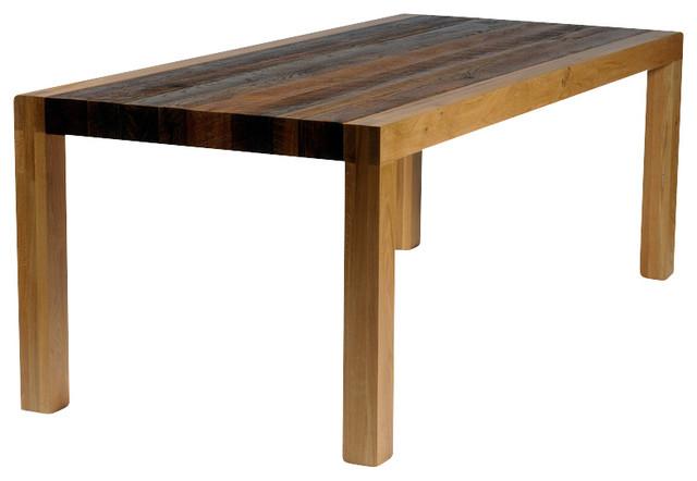 Alamance Dining Table Oak Grey Wash Rustic Dining