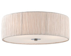 """Possini Euro 16"""" Wide Ivory-White Flushmount Ceiling Fixture contemporary-ceiling-lighting"""
