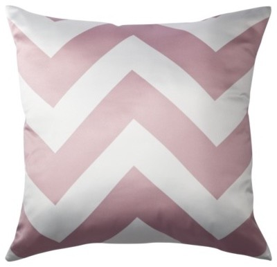 Decorative Chevron Pillow, Pink modern-decorative-pillows