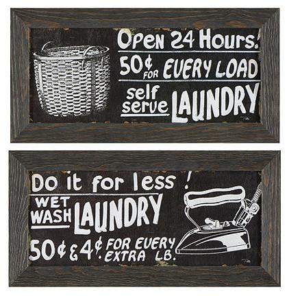 Vintage Laundry Framed Art traditional-artwork
