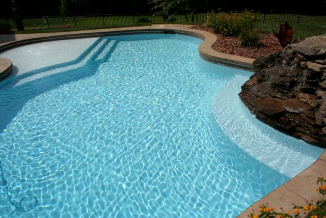 Water color starts with interior finish selection - raleigh - by Vue Custom Pools