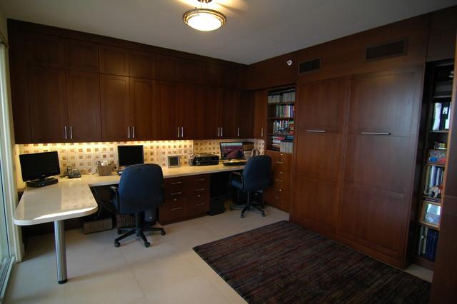 Condominium Renovation contemporary-home-office