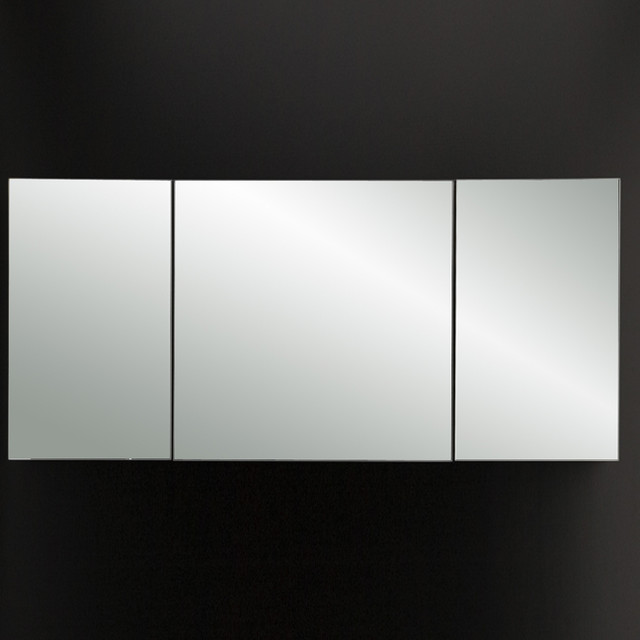 plaza triple mirror medicine cabinet modern bathroom mirrors