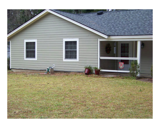Home Renovation in Beaufort, SC - Before home shot without Timberlane shutters.