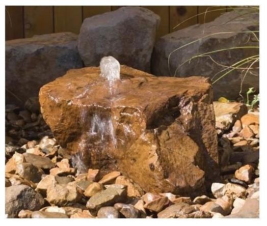 Mesa Decorative Outdoor Bubbler Rock W Natural Finish