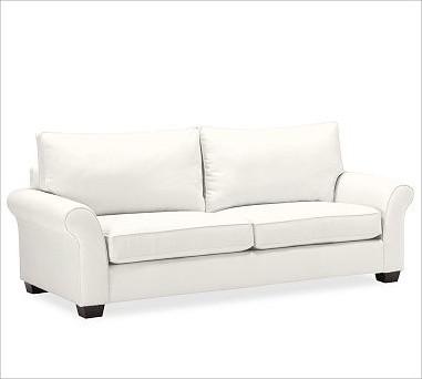 PB Comfort Roll UpholsteredGrand SofaTwillWhiteUpholsteredDown Blend traditional-sofas