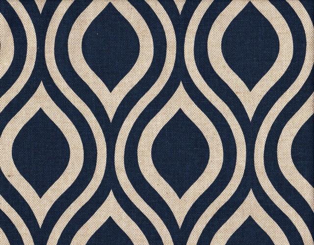 "72"" Shower Curtain, Lined, Nicole Indigo Blue Beige Geometric contemporary-shower-curtains"