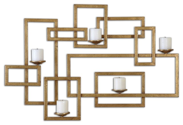 Uttermost Brighton Gold Wall Sconce contemporary-candles-and-candle-holders