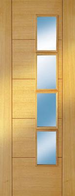 Internal Veneer Door with Glass contemporary-interior-doors