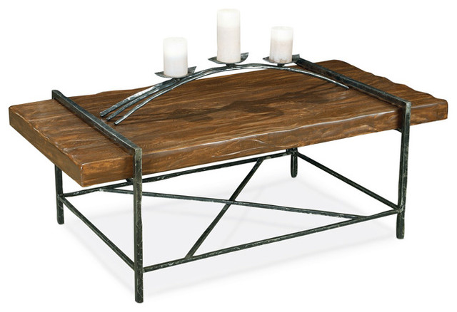 Studio Collection Coffee Table by Stone County Ironworks eclectic-coffee-tables