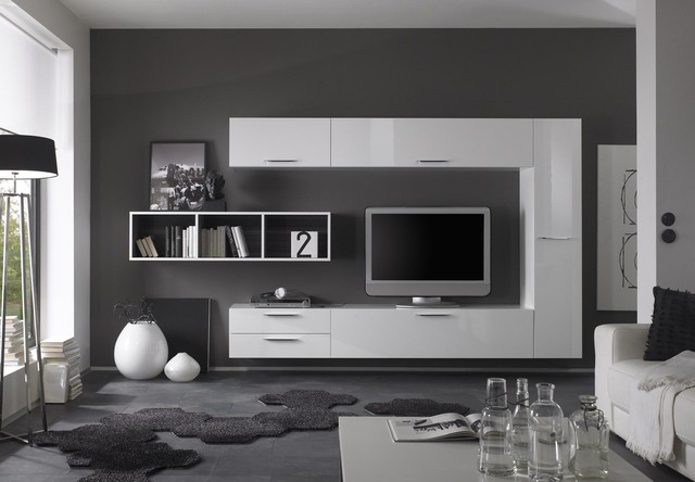 Modern Wall Unit TV Media Entertainment Center Club Composition 2 ...