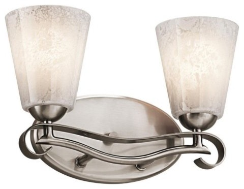 Kichler Lighting Kichler Mara 45367CLP Vanity - 13.5 in. - Classic Pewter traditional bathroom lighting and vanity lighting