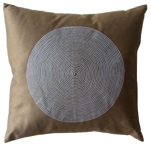 Jiti Spiral Brown Pillow - 2020/SPI/P-BROWN contemporary-pillows