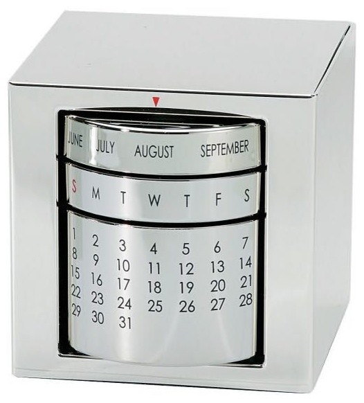 Silver Perpetual Calendar contemporary-desk-accessories