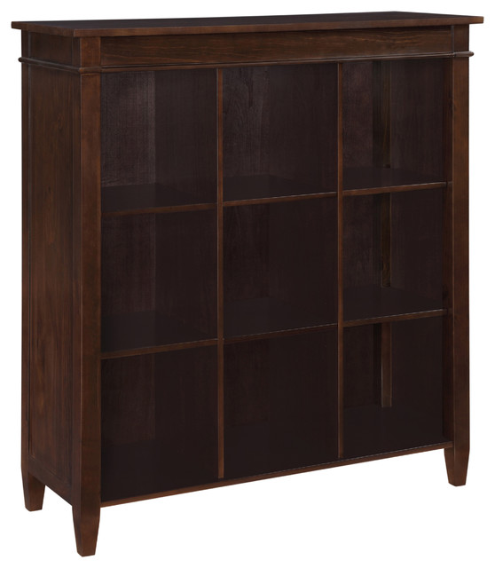 carlton 44 inch wide nine cube bookcase storage in tobacco brown transitional bookcases. Black Bedroom Furniture Sets. Home Design Ideas
