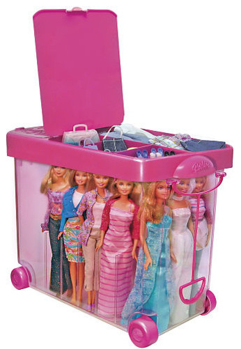 Barbie store it all carrying case contemporain for Chambre poussin toys r us