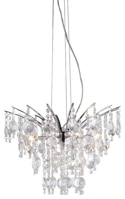 Artemis Chrome Nine-Light Chandelier modern-chandeliers