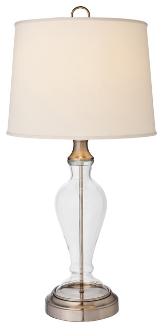 Ashford Nickel Cordless Table Lamp Transitional Table
