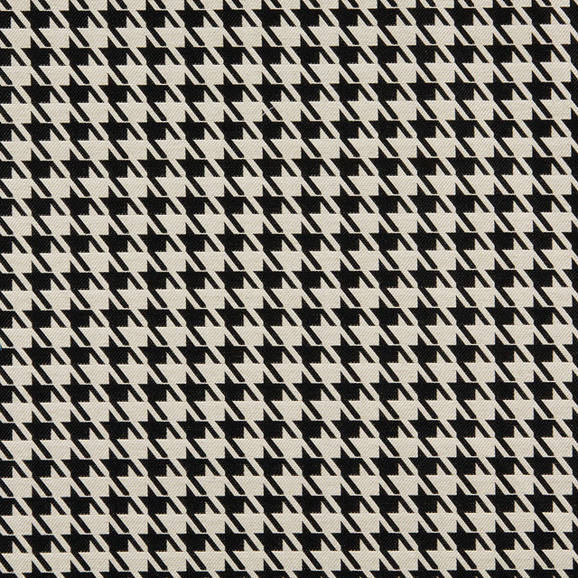 Black And Beige Hounds Tooth Indoor Outdoor Upholstery Fabric By The Yard contemporary-upholstery-fabric
