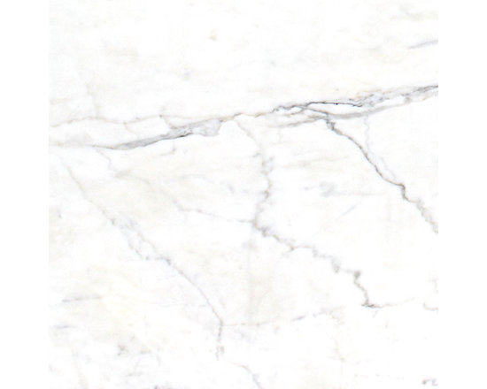 Marble Calacatta Classico Slab - BRILLIANT WHITE BACKGROUND WITH WAVES OF GRAY AND GOLD.