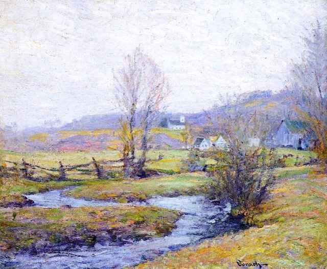 Robert Vonnoh Early Spring, Pleasant Valley, Connecticut   Print traditional-artwork