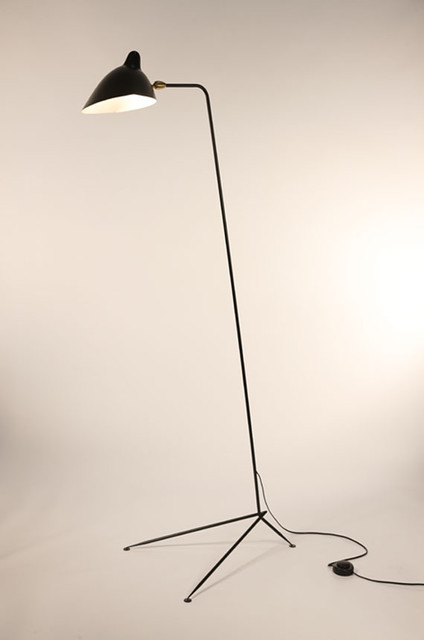 Standing Lamp 1 Arm By Serge Mouille Lighting modern floor lamps