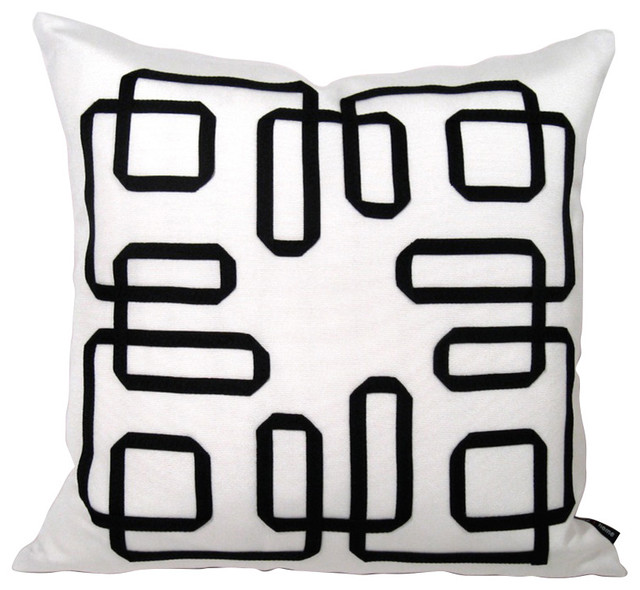 Mazizmuse Mazing Black and White Pillow contemporary-decorative-pillows