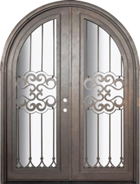 Tivoli 72x96 Round Top Wrought Iron Double Door 14 Gauge Steel Mediterranea