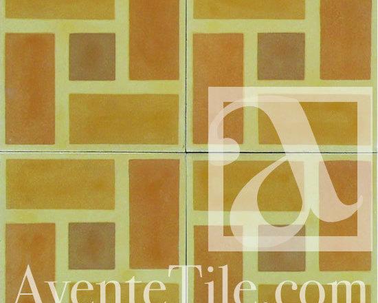 "Geometric Geo 01 Cement Tile 8"" x 8"" -"